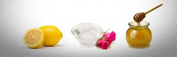 Lotion tonique à l'eau de rose , miel et citron