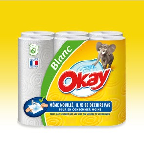 Testez gratuitement l'essuie-tout Okay Blanc