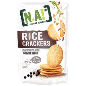 Rice Crackers poivre noir de Nature Addict