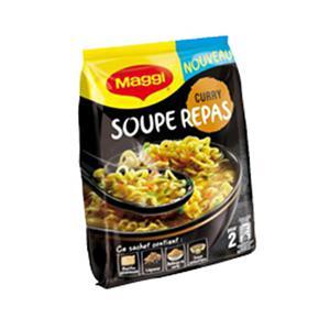 Testez gratuitement la soupe Repas Curry de Maggi