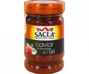 Testez gratuitement la sauce caviar de tomates à l'ail de Saclà
