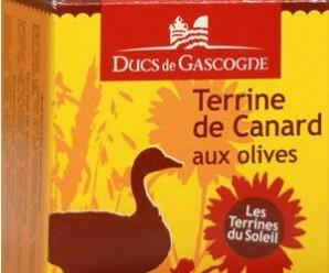 Testez gratuitement la terrine de canard aux olives des Ducs de Gascogne