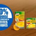 Testez gratuitement les soupes Knorr