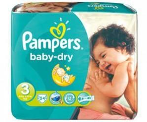 Recevez gratuitement un échantillon de Pampers Baby Dry