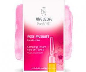 Testez gratuitement le complexe lissant à la rose musquée de Weleda