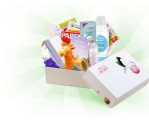 Recevez gratuitement un box bébé remplie d'échantillons