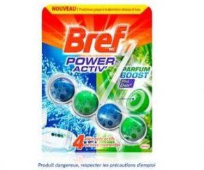 Recevez gratuitement un échantillon de Bref WC Power Activ' Parfum Boost
