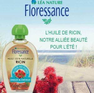 l'huile de ricin Floressance de Léa Nature