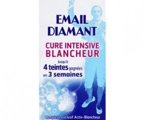 Testez gratuitement le dentifrice cure intensive blancheur Email Diamant