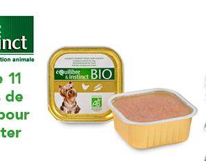 Testez gratuitement les terrines bio pour chien
