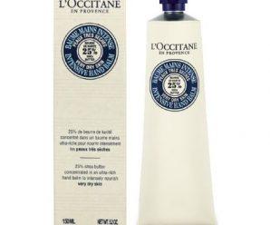 Testez gratuitement le baume mains intense de l'Occitane
