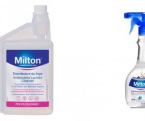 Testez gratuitement la lessive liquide & désinfectant linge de la marque Milton