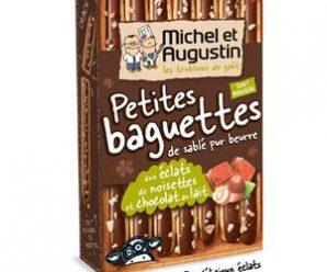 Testez gratuitement les petites baguette au chocolat au lait de Michel et Augustin