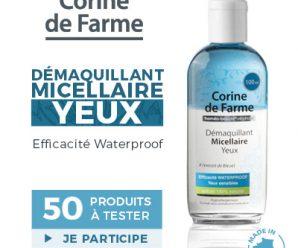 Testez gratuitement le gel démaquillant micellaire Corine de Farme