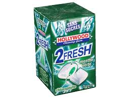 Profitez d'une réduction de 1.50€ pour l'achat de 2 paquets de chewing-gums Hollywood 2 Fresh