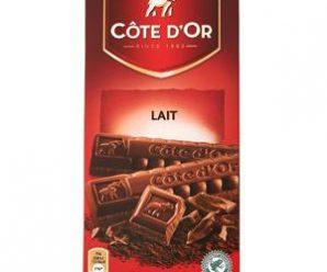 Testez gratuitement le chocolat au lait Côte d'Or