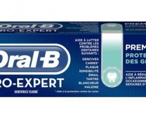 Recevez gratuitement un échantillon du dentifrice Oral-B Pro-Expert Protection