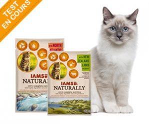 Testez gratuitement les sachets fraîcheur IAMS Naturally pour chats