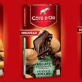 Profitez d'une réduction de 1.20€ pour l'achat de 2 tablettes Côte d'Or Carrés