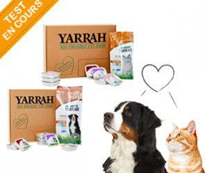 Testez gratuitement la box Yarrah 100% bio pour animaux