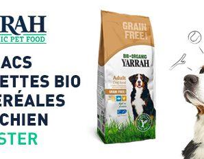 Testez gratuitement les croquettes Bio pour chiens Yarrah