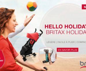Testez gratuitement la poussette Hello Holiday de Britax