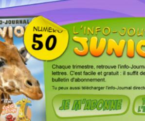 Recevez gratuitement le magazine papier Info Junior