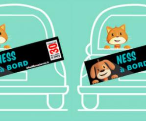 Recevez gratuitement un sticker personnalisé « Animal à bord »