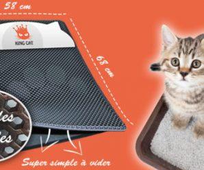 Testez gratuitement un tapis attrape-litière KING CAT