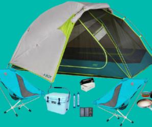Participez au concours pour tenter de remporter un kit complet de camping