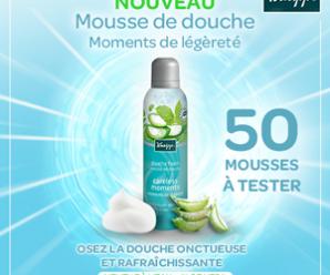 Testez gratuitement la mousse de douche Menthe à l'eau et Aloe vera Kneipp