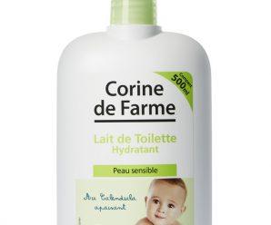 Testez gratuitement le lait de toilette hydratant au Calendula apaisant Corine de Farme