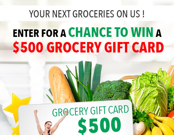 Chance to win a $500 grocery gift card