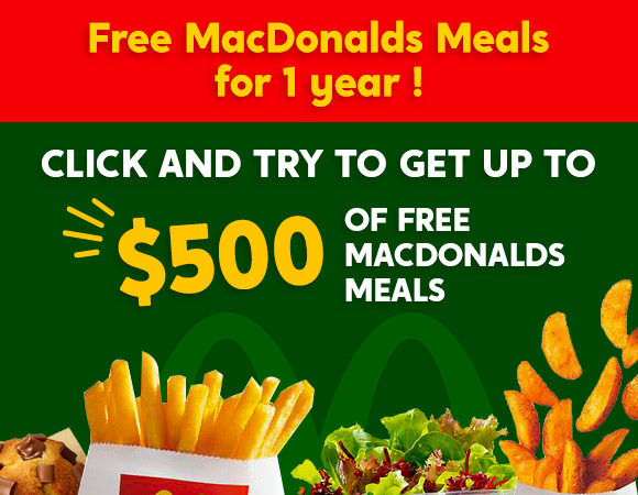 Free MacDonalds meals for 1 year!
