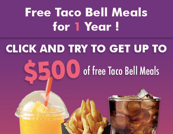 Free Taco Bell meals for one year